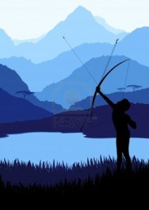 10492661-native-african-bow-hunter-in-wild-nature-landscape-illustration